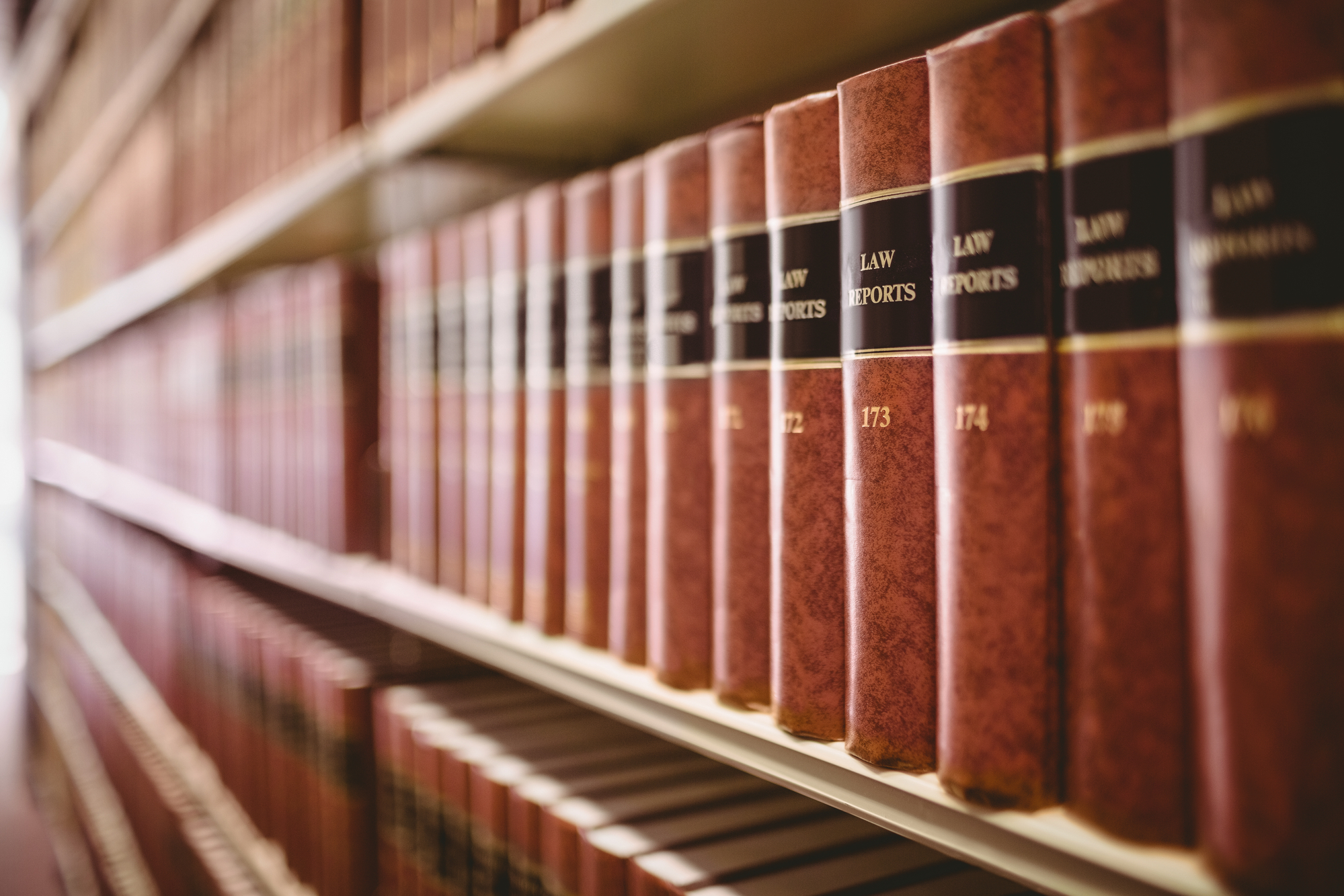 Close up of a lot of law reports