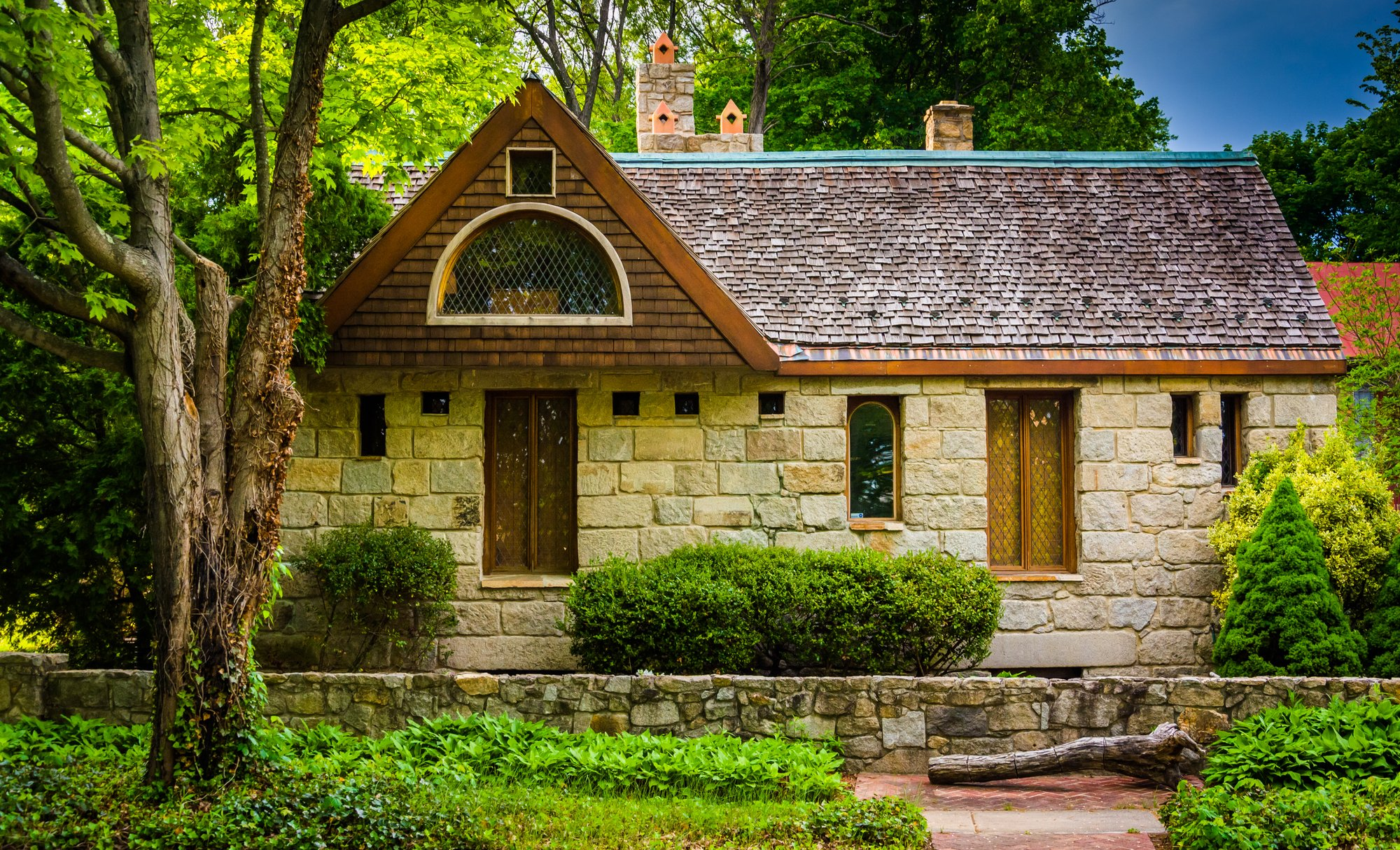 Stone house in Columbia, Maryland